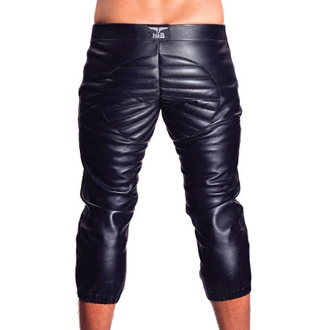 Mister B Leather Football Shorts