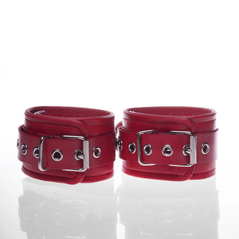 Leather Ankle Restraints (Red)