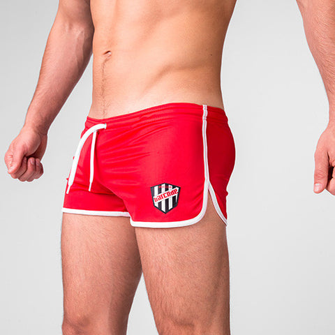 Barcode Mario Shorts (Red with White Trim)