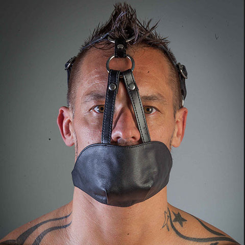 Black Leather Chin Gag