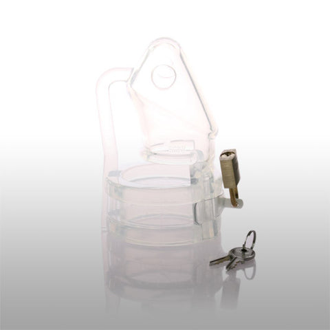 Silicone Chastity Cage (Clear)