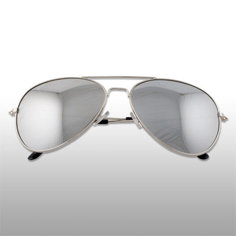 Mister B Mirrored Aviator Sunglasses