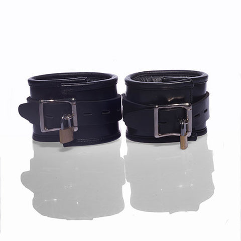 Padlockable Padded Leather Ankle Restraints