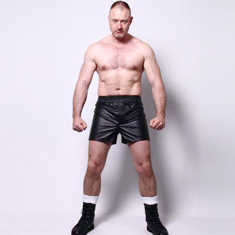 Traditional Style Leather Boxer Shorts