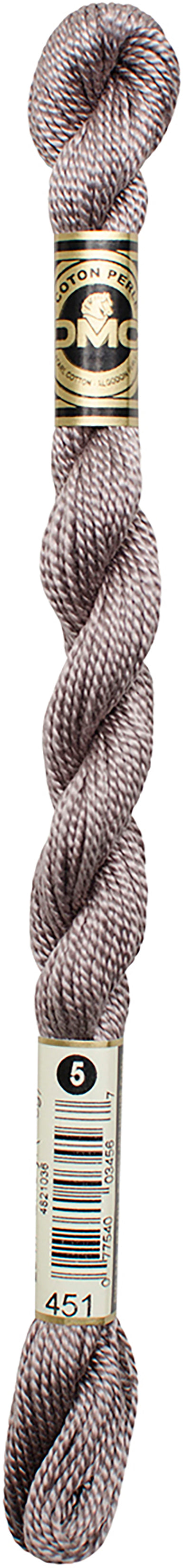 DMC Pearl Cotton Skein Size 5 27.3yd-Dark Shell Gray - Pens N More