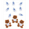 Jolee's Boutique Dimensional Embellishments 11/Pkg-Baby Boy Bears & Booties