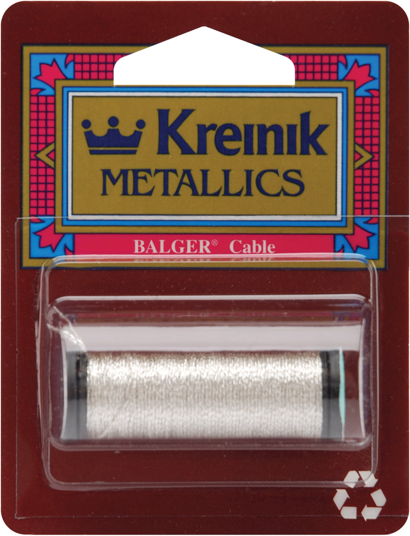 Kreinik Metallic Cable 3-Ply 11yd-Silver
