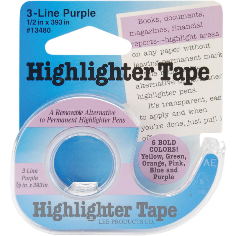 "Lee Products Highlighter Tape .5""X393""-Purple"