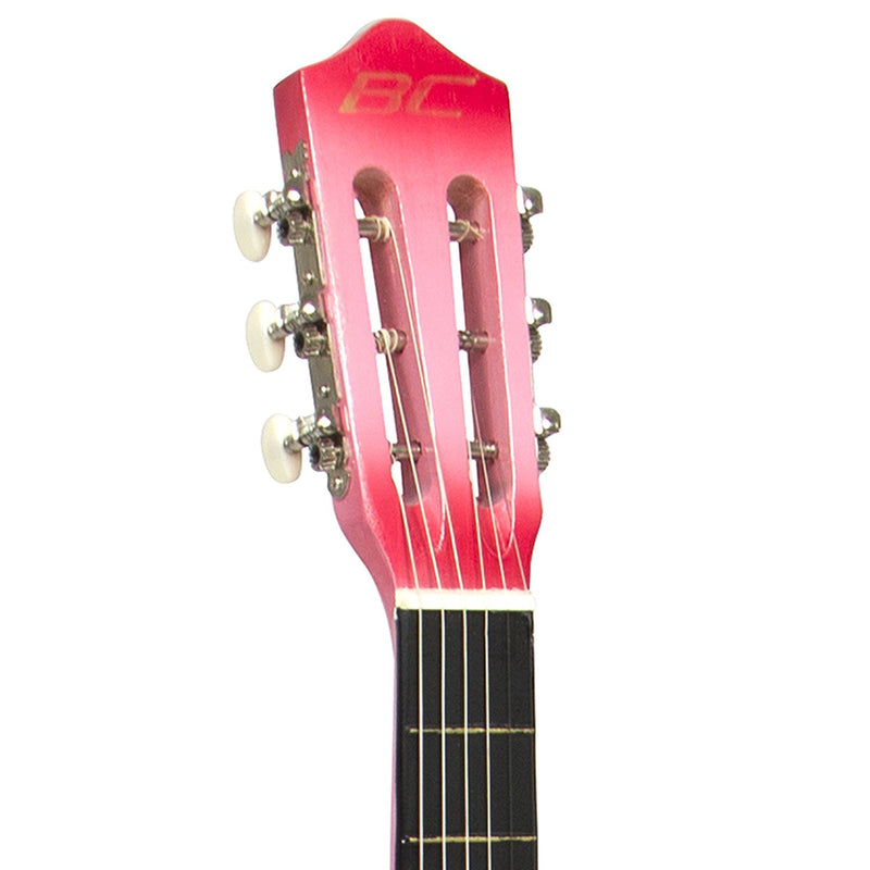 New Beginners Acoustic Guitar With Guitar Case, Strap, Tuner and Pick - Pink