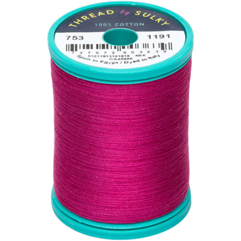 Sulky Cotton & Steel Thread 50wt 660yd-Dark Rose