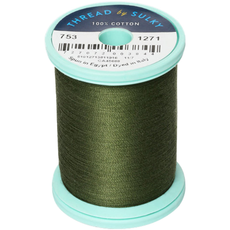 Sulky Cotton & Steel Thread 50wt 660yd-Evergreen