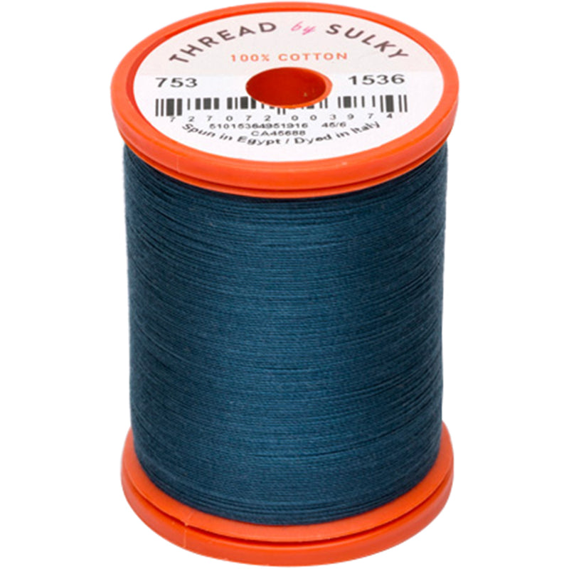 Sulky Cotton & Steel Thread 50wt 660yd-Midnight Teal