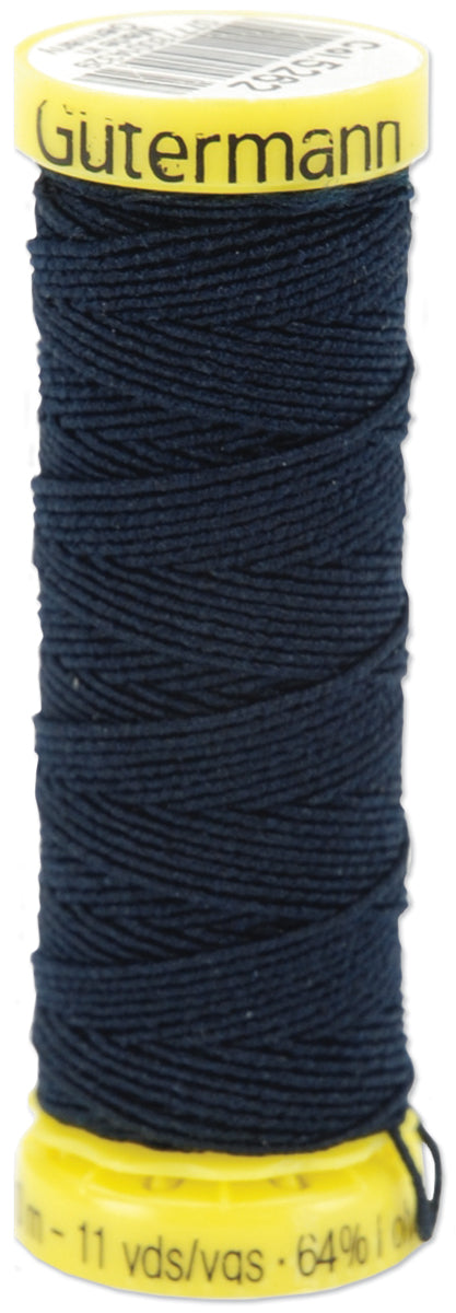 Gutermann Elastic Thread 11yd-Navy
