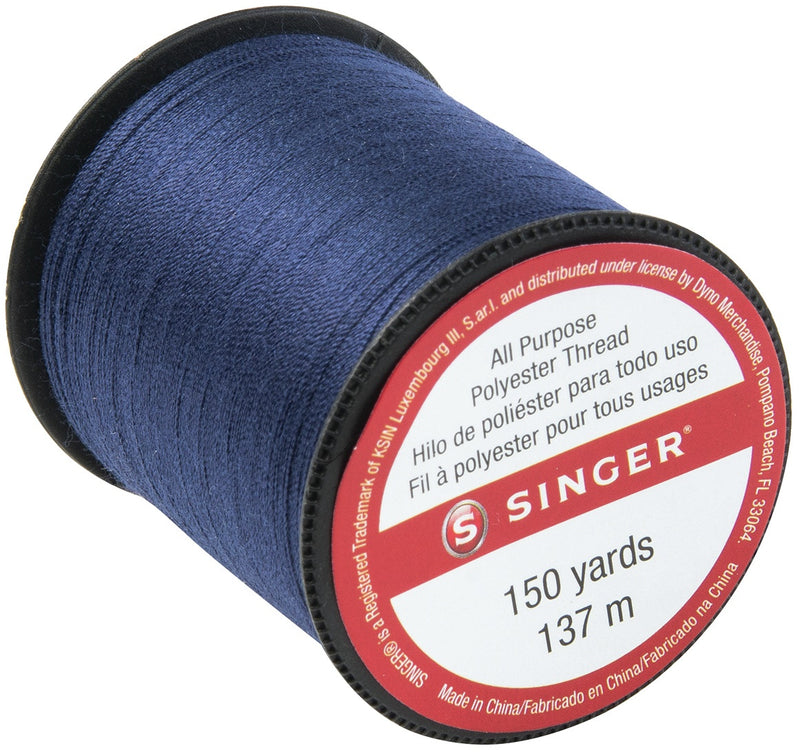 Singer All-Purpose Polyester Thread 150yd-Navy - Pens N More