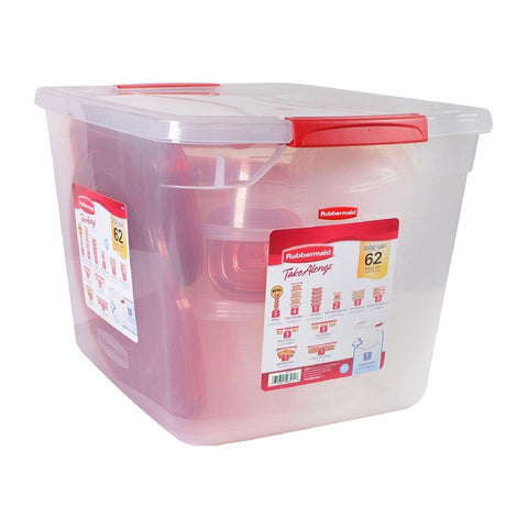 Rubbermaid TakeAlongs Food Storage Containers, 62-Piece Set Variety Pack