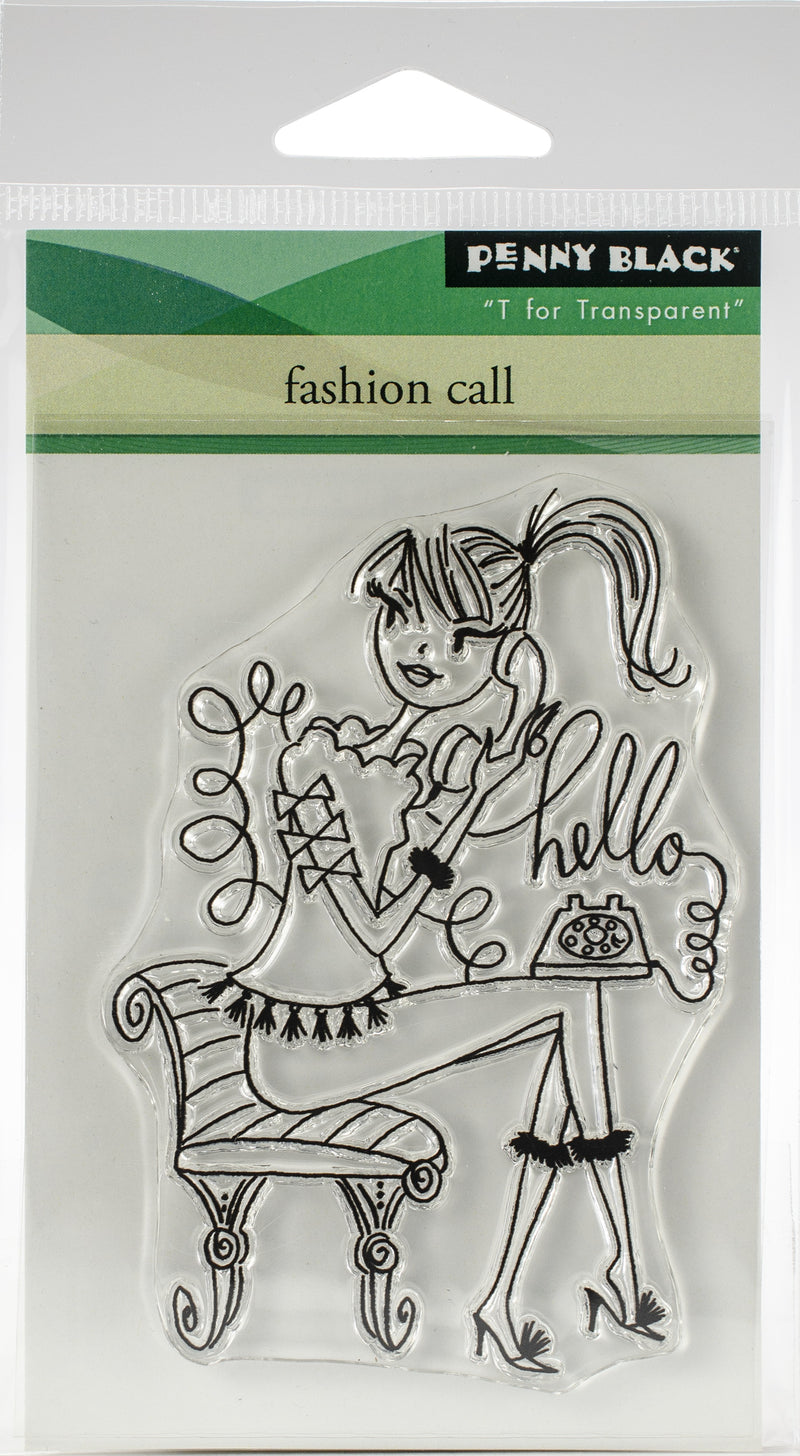 Penny Black Clear Stamps-Fashion Call - Pens N More