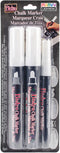 Bistro Chalk Marker Assorted Tips 3/Pkg-White - Chisel, Broad & Fine Tip
