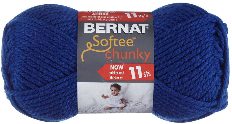 Bernat Softee Chunky Yarn-Royal Blue - Pens N More