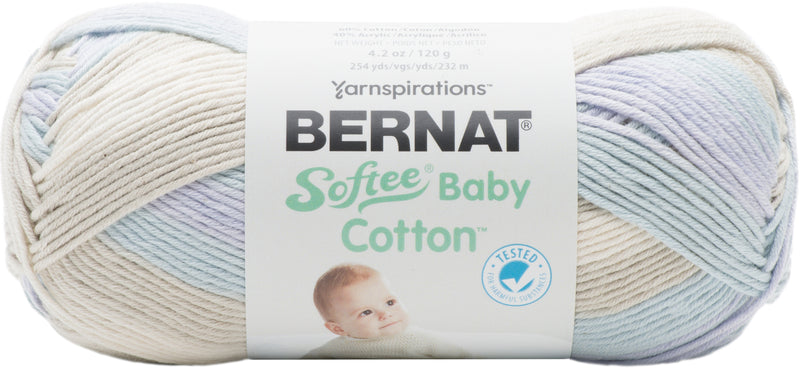 Bernat Softee Baby Cotton Yarn-Rainstorm Variegated - Pens N More