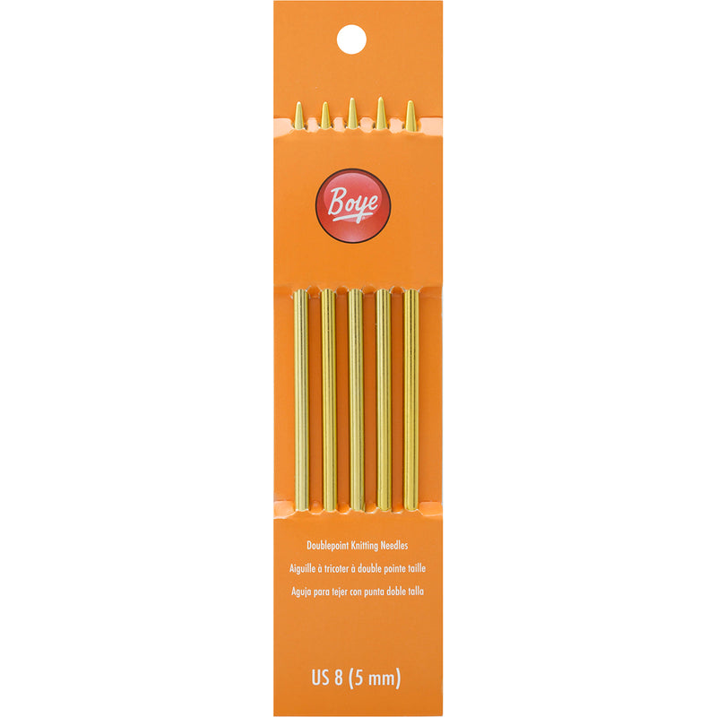 "Boye Double Point Aluminum Knitting Needles 7""-Size 8/5mm - Pens N More"