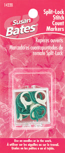 Susan Bates Split Lock Stitch Markers-2 Sizes 15/Pkg - Pens N More