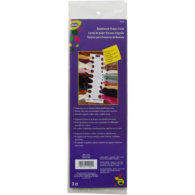 "LoRan Needlework Project Cards 11""X2.75"" 3/pkg- - Pens N More"