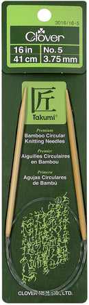 "Takumi Bamboo Circular Knitting Needles 16""-Size 5/3.75mm - Pens N More"