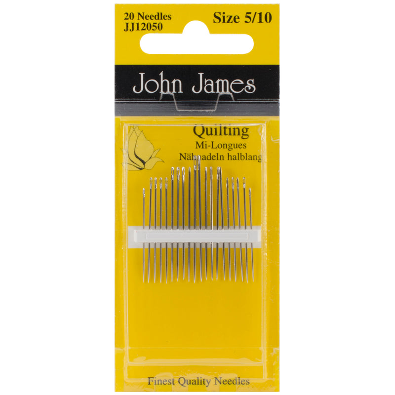 John James Quilting/Betweens Hand Needles-Size 5/10 20/Pkg - Pens N More