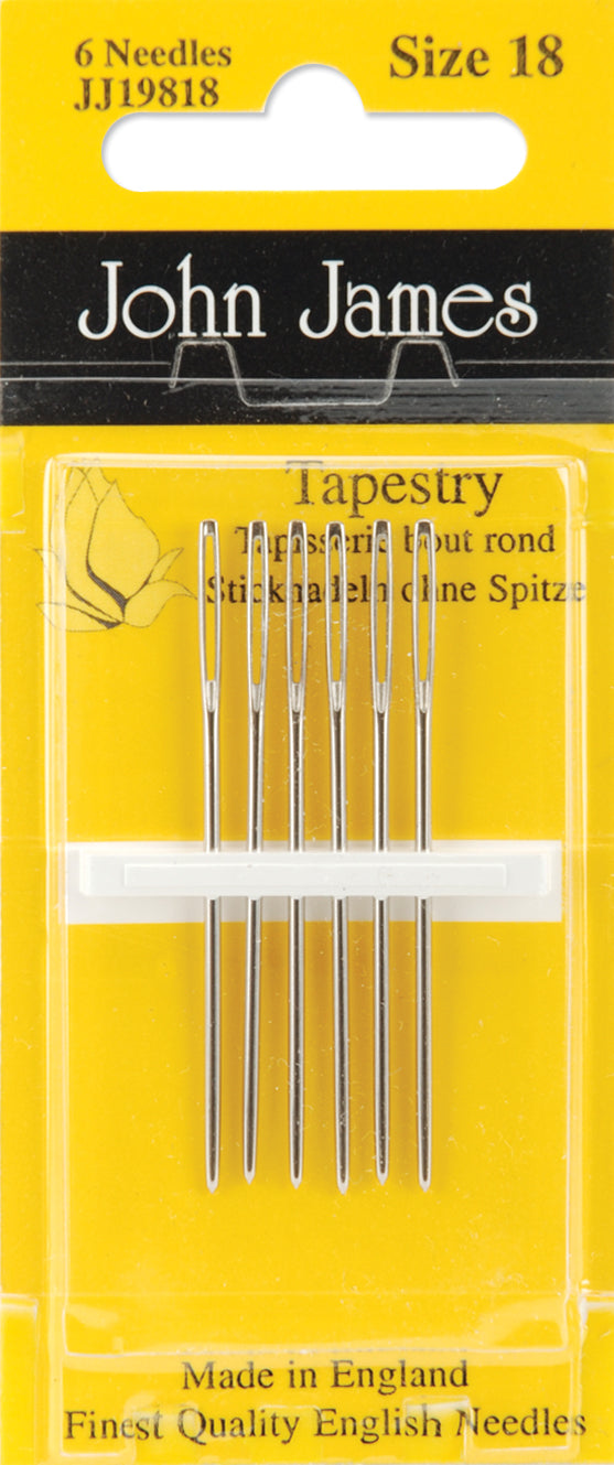 John James Hand Needles-Size 18 6/Pkg - Pens N More