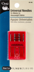 Dritz Universal Point Machine Needles-Sizes 11/75, 14/90 & 16/100 - Pens N More