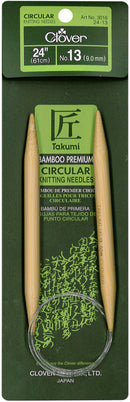 "Takumi Bamboo Circular Knitting Needles 24""-Size 13/9mm - Pens N More"