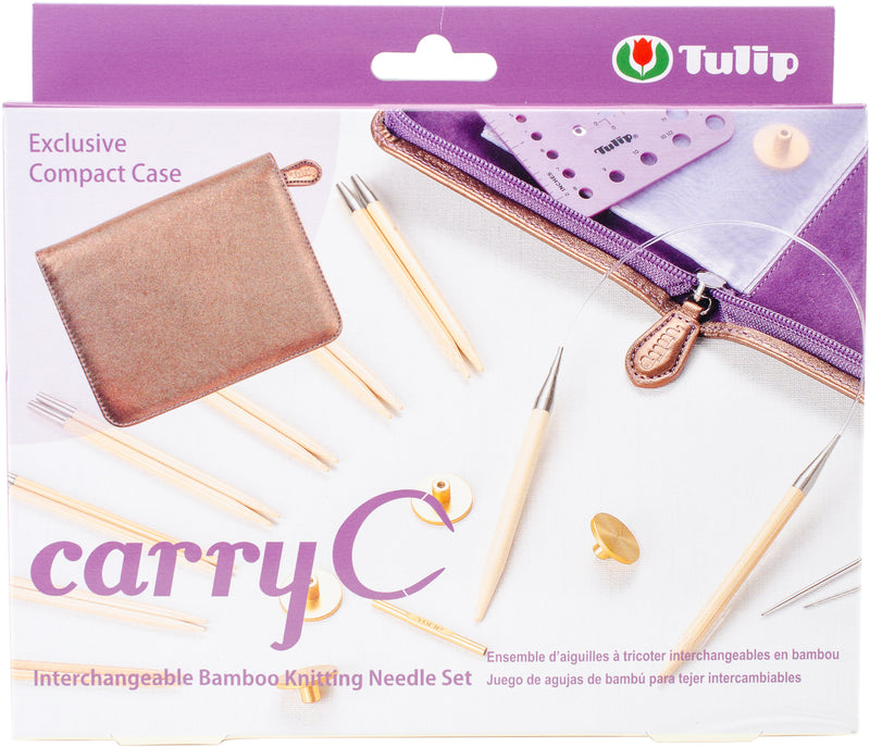 Carry C Interchangeable Bamboo Knitting Needle Set- - Pens N More