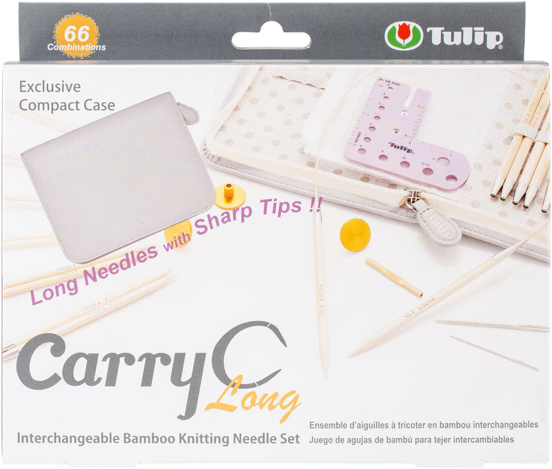 Carry C Interchangeable Bamboo Knitting Needle Long Set- - Pens N More