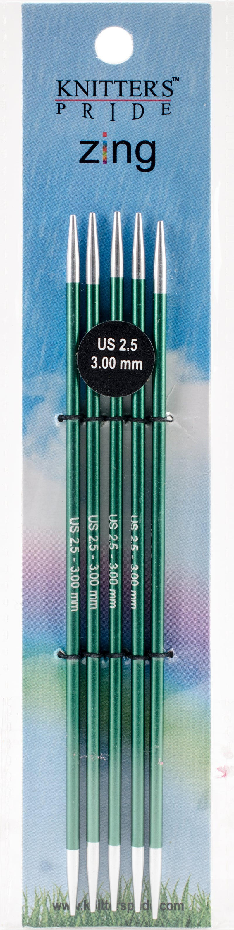 "Knitter's Pride-Zing Double Pointed Needles 6""-Size 2.5/3mm - Pens N More"