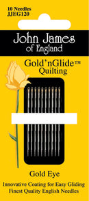 John James Gold'n Glide Quilting Needles  -Size 10 10/Pkg - Pens N More