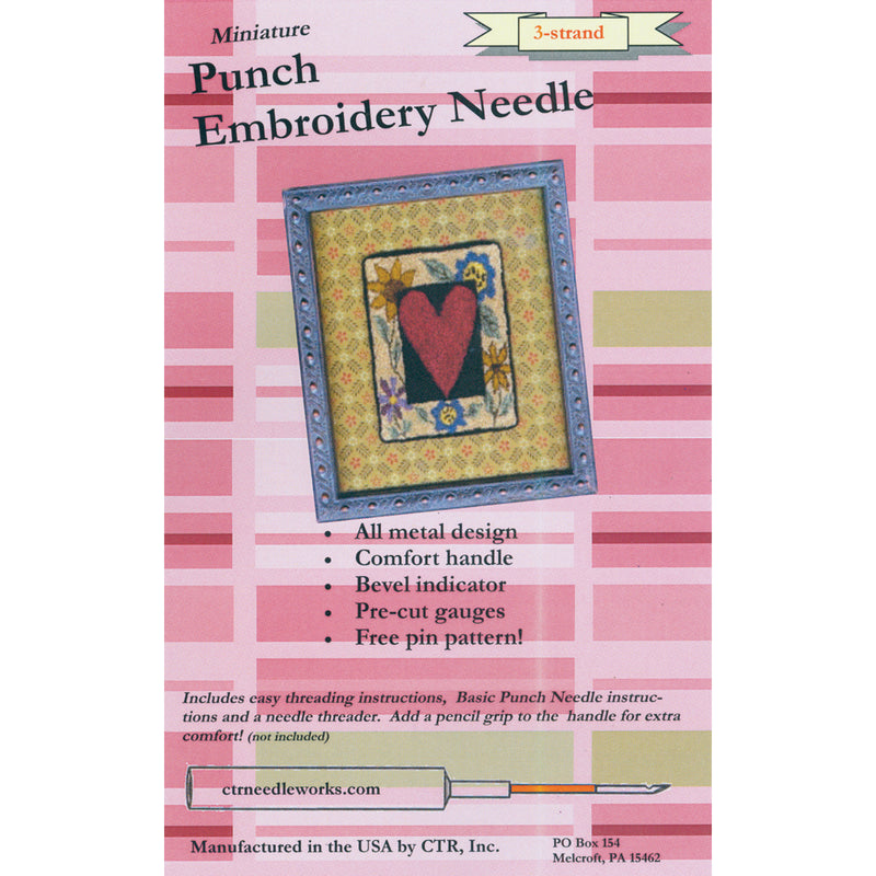 CTR Needleworks Miniature Punch Embroidery Needle-Red 3-Strand - Pens N More