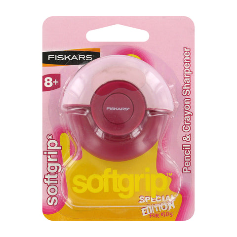 Fiskars Softgrip Pencil and Crayon Sharpener Special Edition for Kids