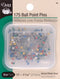 "Dritz Color Ball Point Pins 1-1/16"" 175/Pkg-Size 17 - Pens N More"
