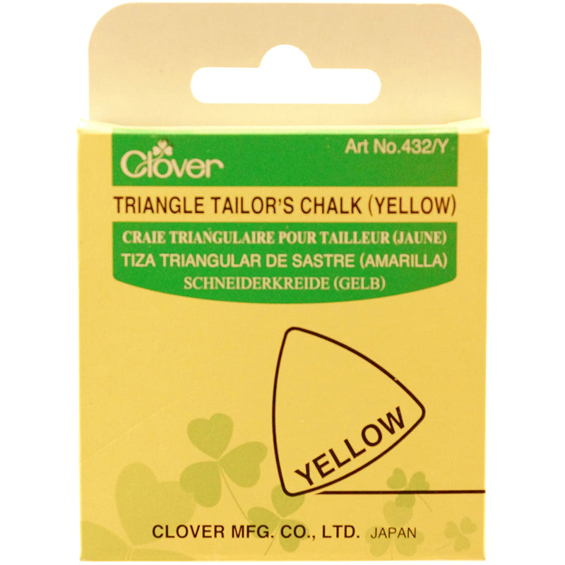 Clover Triangle Tailor's Chalk-Yellow