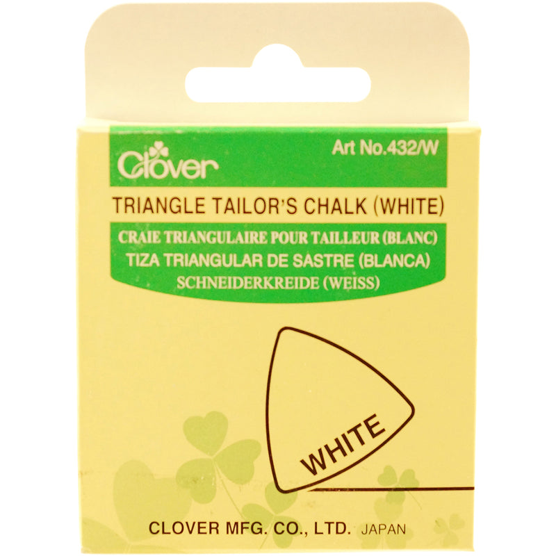 Clover Triangle Tailor's Chalk-White - Pens N More