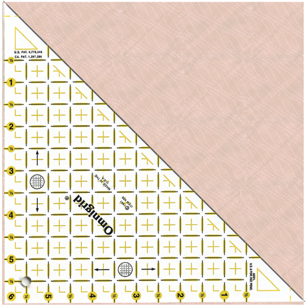 "Omnigrid Half Square Triangle Ruler 6""-Up To 6"" Sides"