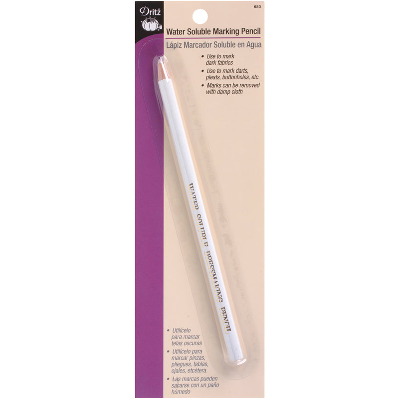 Dritz Water-Soluble Marking Pencil-White - Pens N More