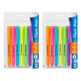 Paper Mate Intro Highlighters, Micro Chisel Tip Assorted Colors, Pack of 12