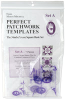 "Marti Michell Perfect Patchwork Template-Set A - 3"" Basic Square Set 7/Pkg"