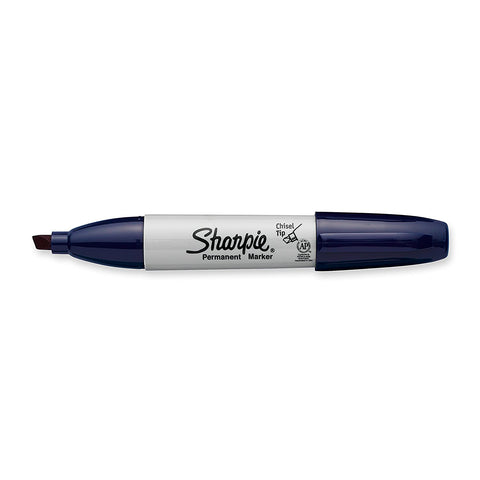 Sharpie Permanent Marker, Chisel Tip, Navy, Each