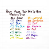 Paper Mate Flair Felt Tip Pen, 0.7mm, Medium Point, Purple Ink, 12-Count
