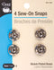 Dritz Sew-On Snaps 4/Pkg-Nickel-Plated Brass Size 4