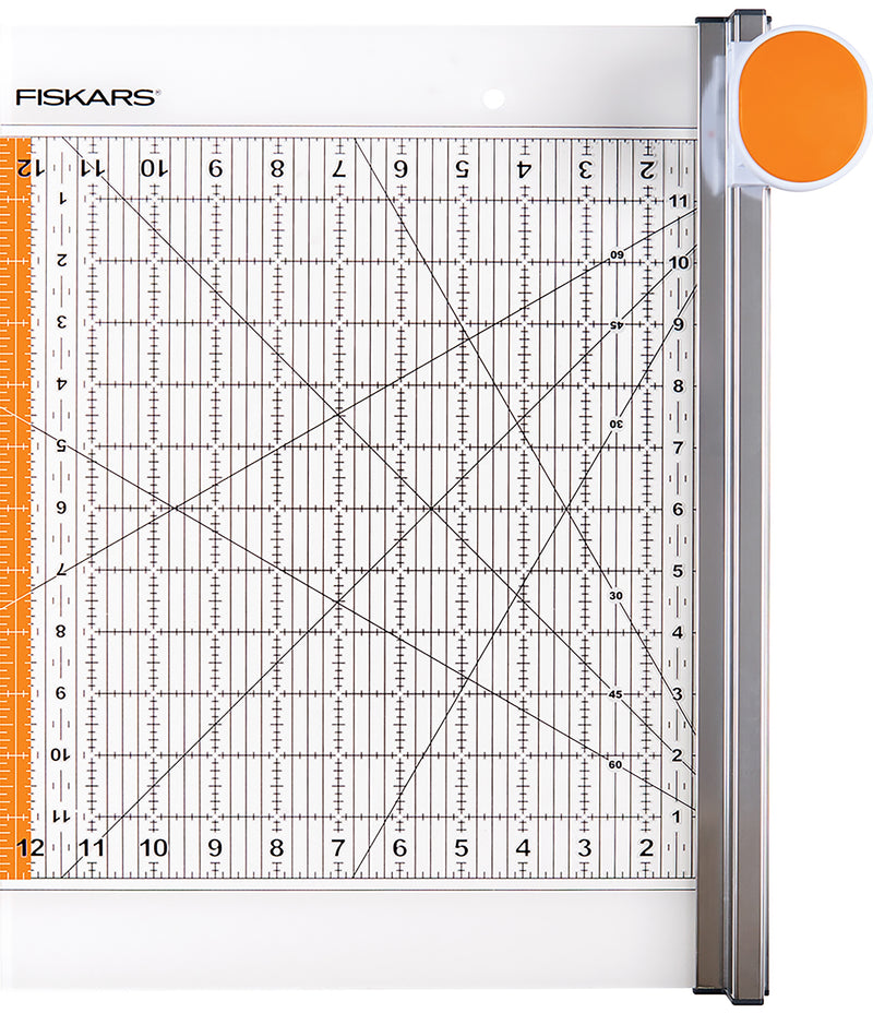 "Fiskars Rotary Ruler Combo For Fabric Cutting 12""X12""-"