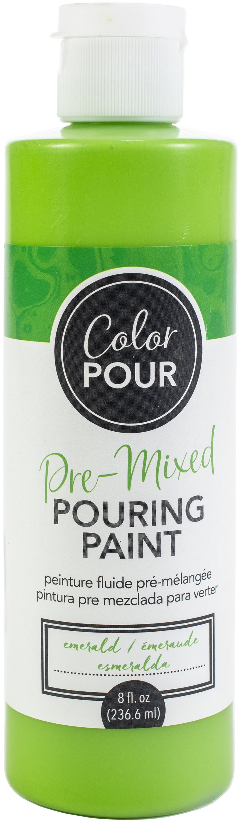 American Crafts Color Pour Pre-Mixed Paint 8oz-Emerald