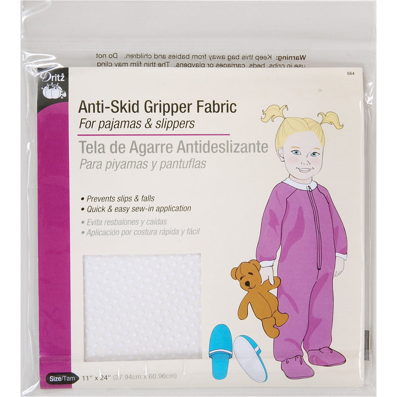 "Dritz Anti-Skid Gripper Fabric 11""X24""-White"